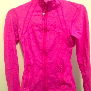 Lulu lemon yoga/fitness jacket- size 2. Pink